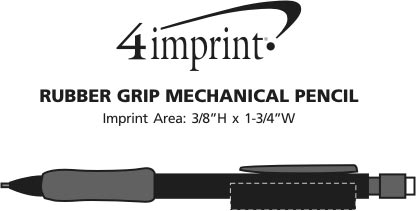Imprint Area of Rubber Grip Mechanical Pencil