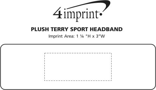 Imprint Area of Plush Terry Sport Headband
