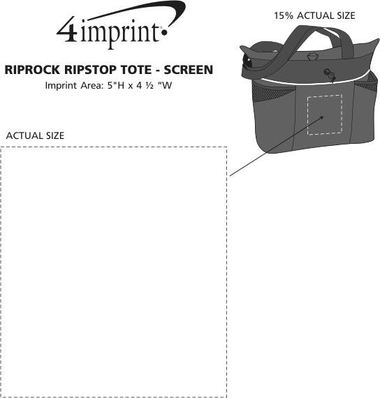 Imprint Area of Riprock Ripstop Tote - Screen