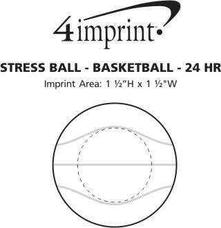 Imprint Area of Stress Reliever - Basketball - 24 hr