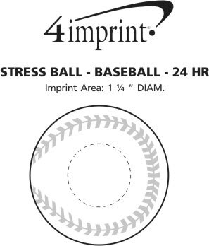 Imprint Area of Stress Reliever - Baseball - 24 hr