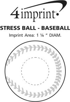 Imprint Area of Stress Reliever - Baseball
