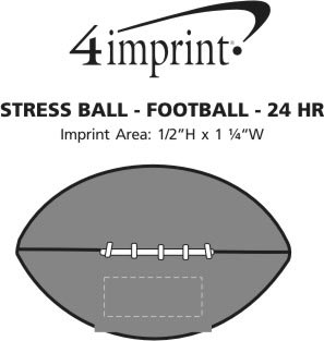 Imprint Area of Stress Reliever - Football - 24 hr