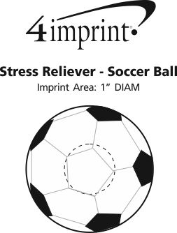 Imprint Area of Stress Reliever - Soccer Ball