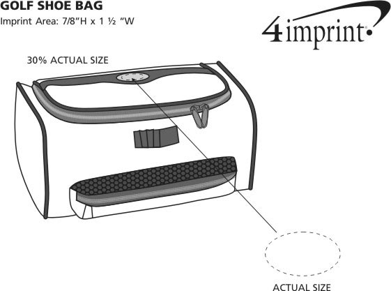 Imprint Area of Golf Organizer Shoe Bag