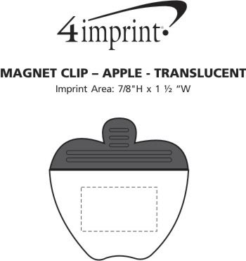 Imprint Area of Magnet Clip - Apple - Translucent