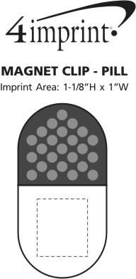 Imprint Area of Magnet Clip - Pill