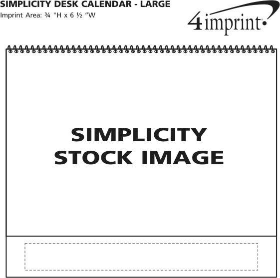 Imprint Area of Simplicity Desk Calendar - Large