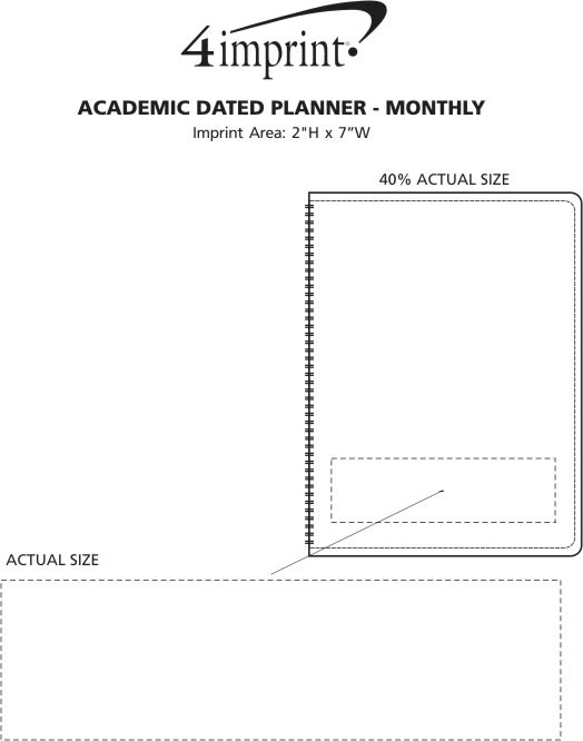 Imprint Area of Academic Dated Planner - Monthly