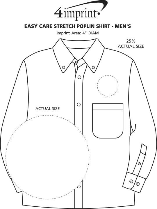 Imprint Area of Easy Care Stretch Poplin Shirt - Men's