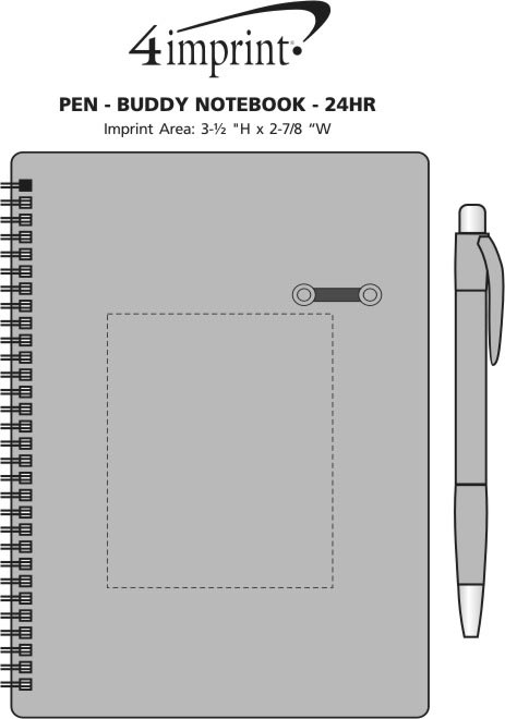 Imprint Area of Pen-Buddy Notebook - 24 hr