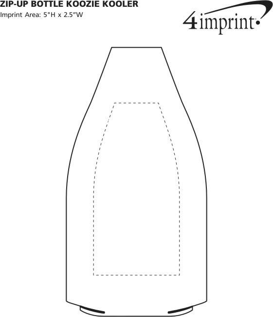 Imprint Area of Zip-Up Bottle Koozie® Kooler