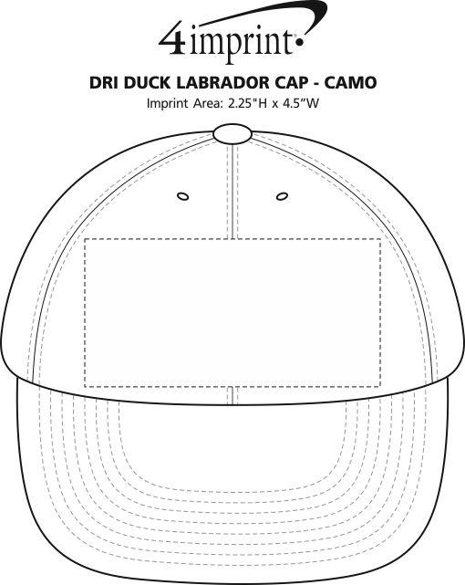 Imprint Area of DRI DUCK Labrador Cap - Camo