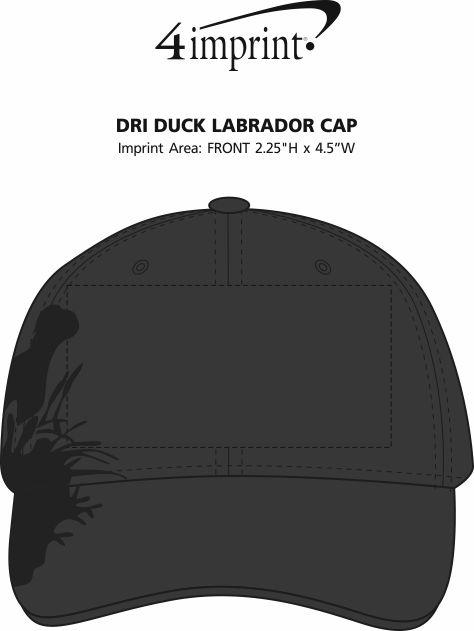 Imprint Area of DRI DUCK Labrador Cap