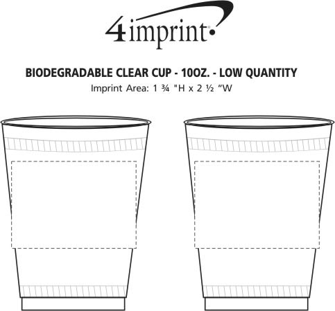 Imprint Area of Compostable Clear Cup - 10 oz. - Low Qty