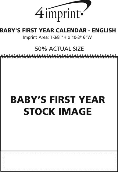 Imprint Area of Baby's First Year Calendar - English