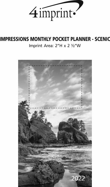 Imprint Area of Impressions Monthly Pocket Planner - Scenic