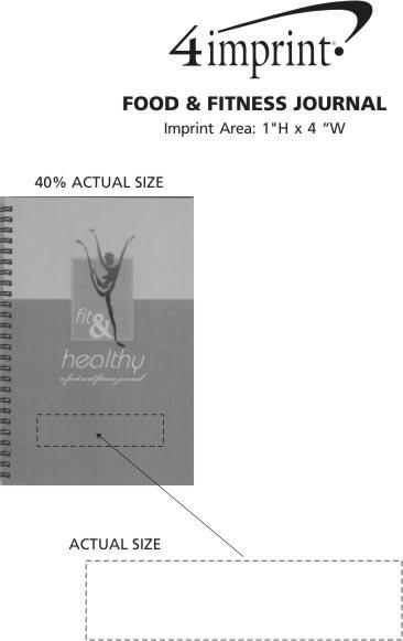 Imprint Area of Food & Fitness Journal