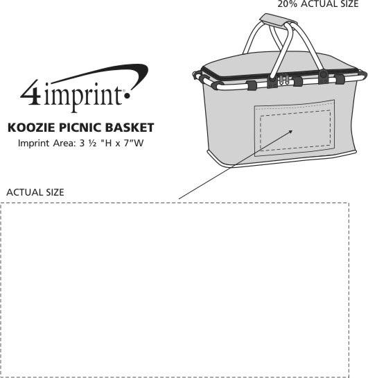 Imprint Area of Koozie® Picnic Basket
