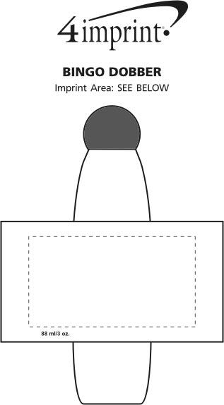 Imprint Area of Bingo Dobber