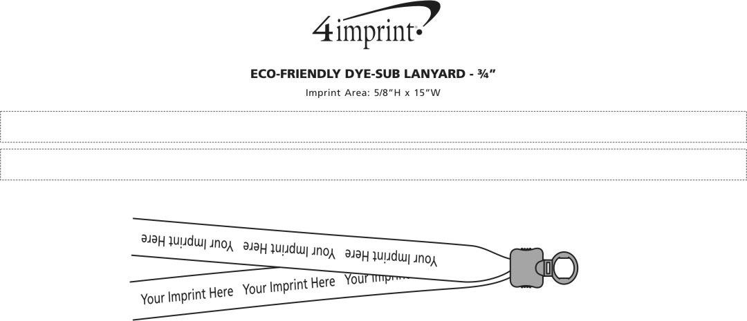 "Imprint Area of Eco-Friendly Dye-Sublimated Lanyard - 3/4"""