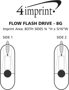 Imprint Area of Flow Flash Drive - 8GB