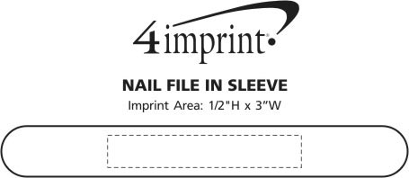 Imprint Area of Nail File in Sleeve