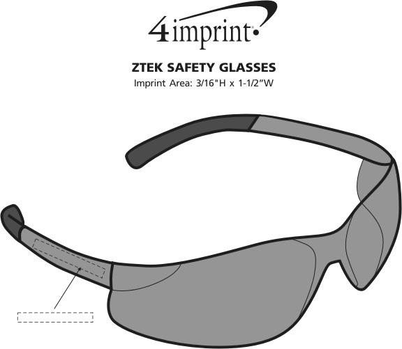 Imprint Area of ZTEK Safety Glasses
