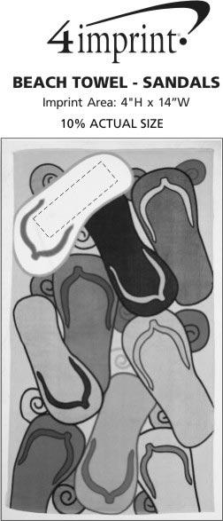 Imprint Area of Beach Towel - Sandals