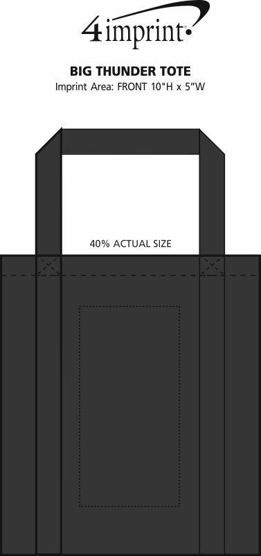 "Imprint Area of Big Thunder Tote - 15"" x 13"""
