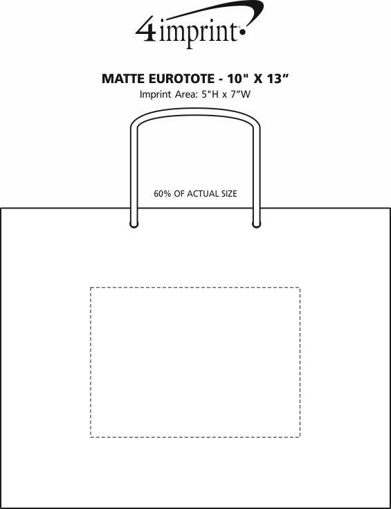 "Imprint Area of Matte Eurotote - 10"" x 13"""