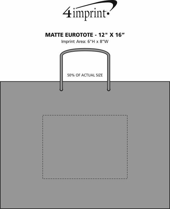 "Imprint Area of Matte Eurotote - 12"" x 16"""