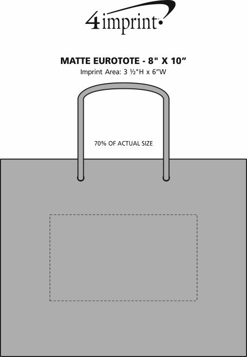 "Imprint Area of Matte Eurotote - 8"" x 10"""