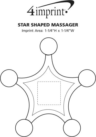 Imprint Area of Star Shaped Massager