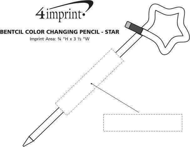 Imprint Area of Bentcil Color Changing Pencil - Star