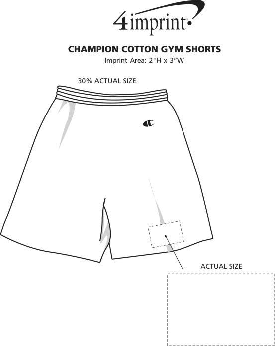 Imprint Area of Champion Cotton Gym Shorts
