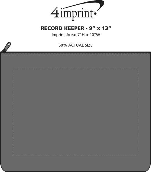 """Imprint Area of Record Keeper - 10"""" x 13"""""""