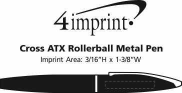 Imprint Area of Cross ATX Rollerball Metal Pen
