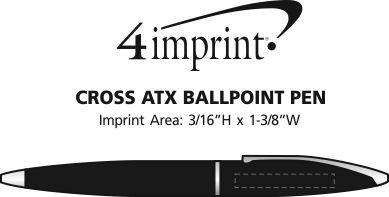 Imprint Area of Cross ATX Twist Metal Pen