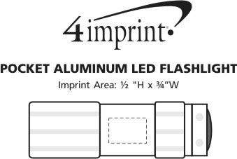 Imprint Area of Holmes Aluminum LED Flashlight