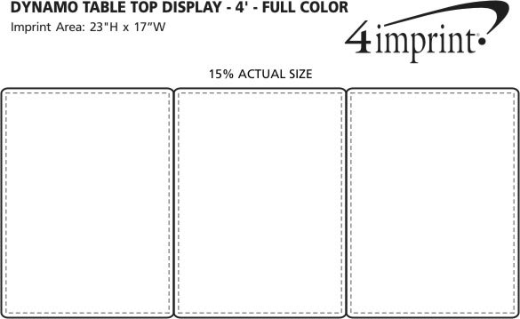 Imprint Area of Dynamo Tabletop Display - 4' - Full Color