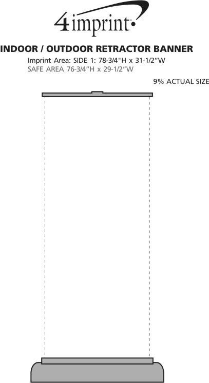 Imprint Area of Indoor/Outdoor Retractor Banner