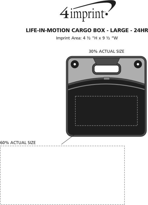 Imprint Area of Life in Motion Cargo Box - Large - 24 hr