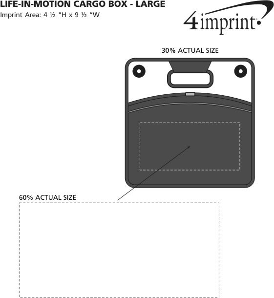 Imprint Area of Life in Motion Cargo Box - Large