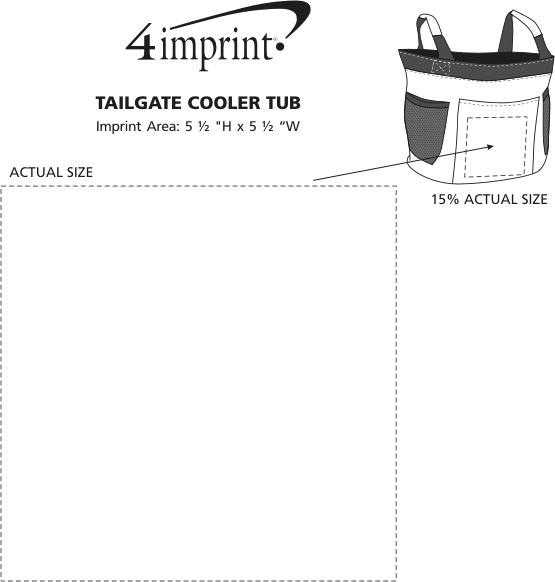 Imprint Area of Tailgate Cooler Tub