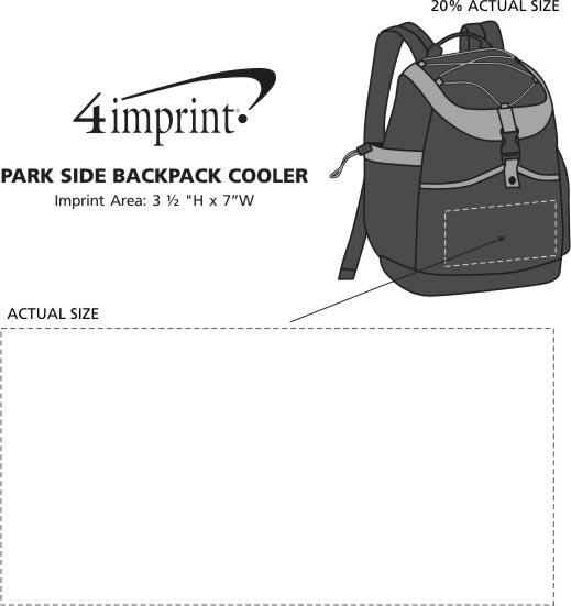 Imprint Area of Park Side Backpack Cooler