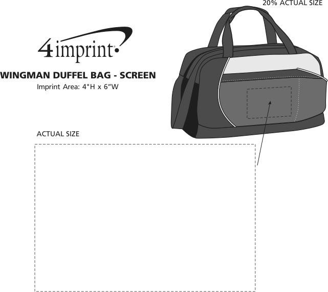 Imprint Area of Wingman Duffel Bag - Screen