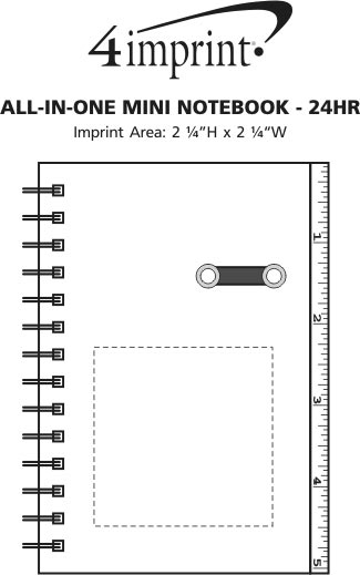 Imprint Area of All-in-One Mini Notebook - 24 hr