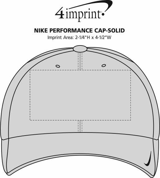 Imprint Area of Nike Performance Cap - Solid - 24 hr