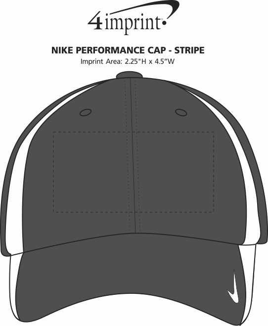 Imprint Area of Nike Performance Cap - Stripe